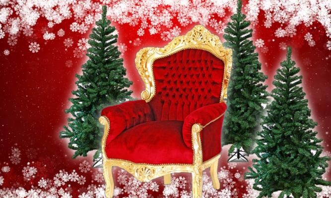 trône du père noël Stockholm
